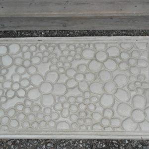 Betongmatta 300x300 - Dörrmatta, Cirklar, 77,5×43,5x3cm, Betong
