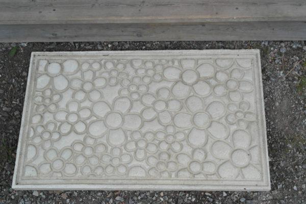 Betongmatta 600x400 - Dörrmatta, Cirklar, 77,5×43,5x3cm, Betong