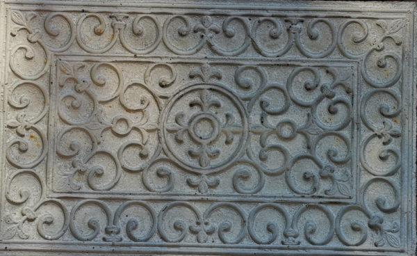 Betongmatta webb 600x368 - Dörrmatta, Viktorianskt mönster, 77,5 x 43,5 cm, Betong